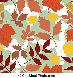 Seamless background of autumn leaves