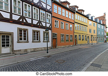 Kreuzstabe Hanover - Traditional colourful houses at...