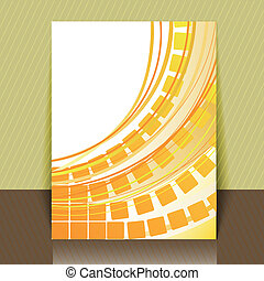 flyer with yellow squares - abstract yellow background with...
