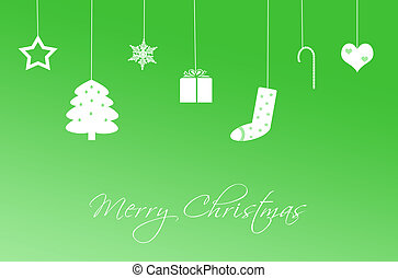 Funny Christmas Card in green color - Funny Christmas Card...