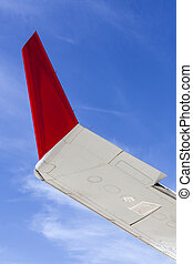 Wing Abstract - Abstract detail of the wing tip on a civil...