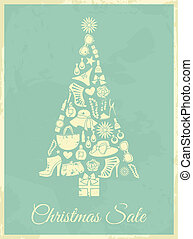 Vintage Fashion Christmas - Vintage Christmas tree made from...