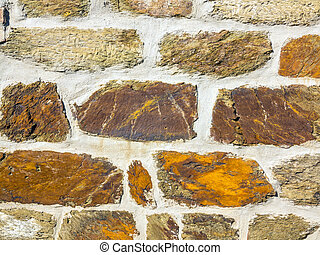 grunge brick wall of an old house