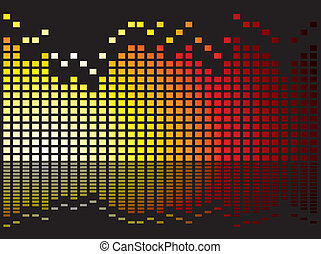 equalizer burn - Graphical equaliser illustration ideal as a...