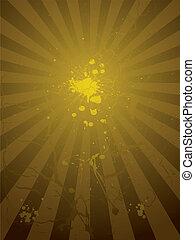 golden splat radiate