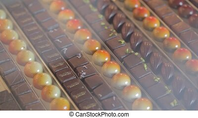 pan over chocolates - pan over Belgian luxury chocolates
