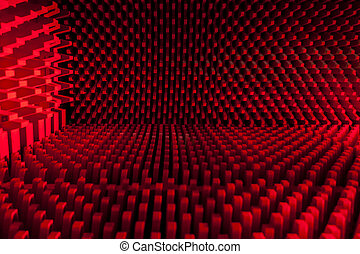 Sound Proofed - ABstract image showing a soundproofed room...