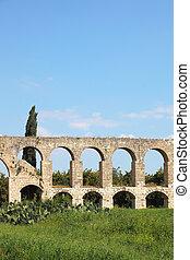 A Roman antique aqueduct