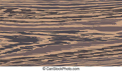 Vector texture of solid, striped, African wenge - Vector...