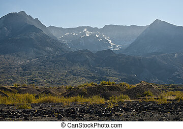 Mt. Saint Helens - Barren landscape around Mount Saint...