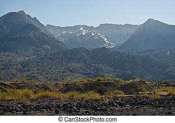 Mt. Saint Helens - Barren landscape around Mount Saint...