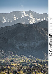 Steam rising from Mt. Saint Helens - Steam rising from the...