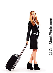 business trip - Full length portrait of a successful young...