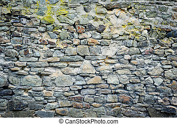Old stone wall Background concept