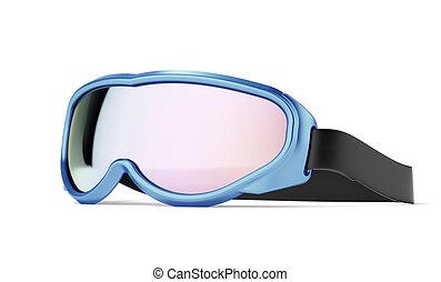 Winter sport glasses. - Winter sport glasses isolated on a...