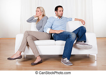 Couple have fallen out over a disagreement - Couple who have...