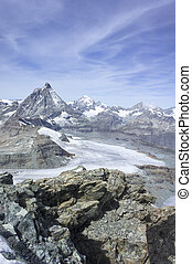 Swiss Mountain range viewed from the Summit of the Klein...