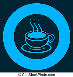 Blue coffee - Creative design of blue coffee