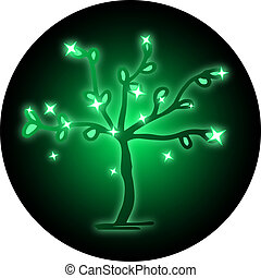 Icon green tree - Creative design of icon green tree