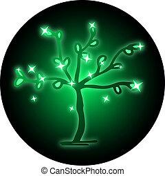 Icon green tree - Creative design of icon green tree