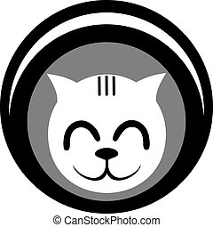 White cat icon - Creative design of white cat icon