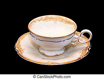 Expensive Porcelain Teaset Tea Cup and Saucer - Isolated...