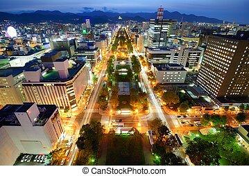 Sapporo Skyline - Odori Park in Sapporo, Japan.