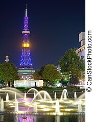 Sapporo Television Tower in Sapporo, Japan.