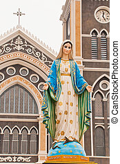 Virgin mary statue in thailand