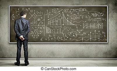 事務, 人, 針對, 黑板