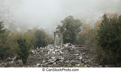 Apollo temple time lapse - Apollon temple ancient city of...