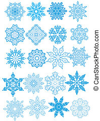 Decorative vector Snowflakes set - snowflakes, decorative...