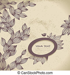 Vintage background with speech bubble frame