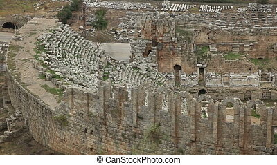 Ancient Amphitheater Of Perge - Dating back to 1200 BC, The...