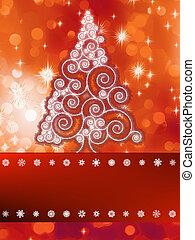 Shinny christmas tree background.  + EPS8
