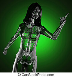 cute woman radiography made in 3D