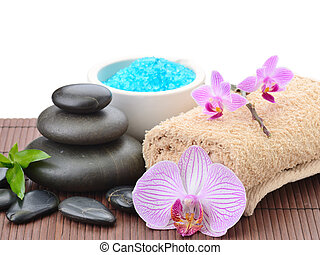 spa concept - spa composition with shell and toning sea...