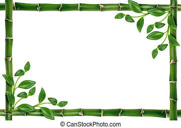 frame - bamboo frame isolated on white