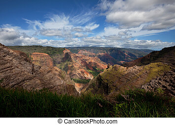 Canyon on Hawaii -  Waimea canyon,Kauai,Hawaii