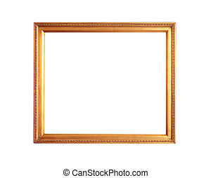 gold plated empty picture frame