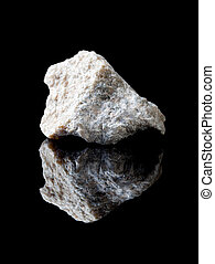 Talc or talcum rock - Rough rock of talc or talcum, soft and...