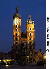 Saint Mary's church in Krakow, Poland