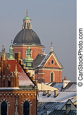 St Peter and St Pauls church in Cracow, Poland - The skyline...