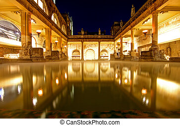 Roman Baths in Bath Avon in the United Kingdom