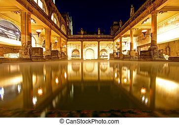 Roman Baths in Bath Avon in the United Kingdom