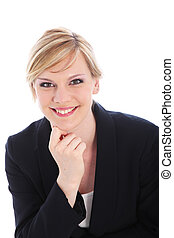 Portrait of a smiling businesswoman - Portrait of an...