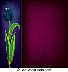 abstract grunge floral background with tulip
