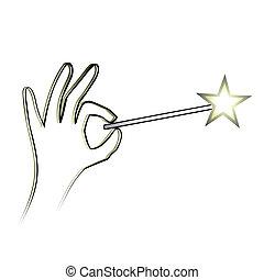 Magic wand - Creative design of magic wand