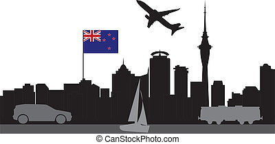 travel to aukland skyline new sealand