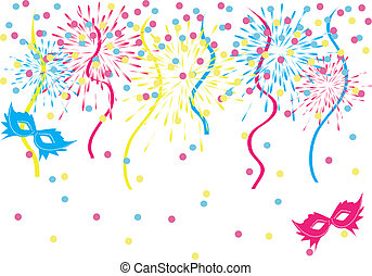 Colorful Carnival background with confettis